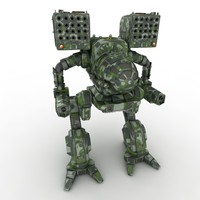 3d mech warrior model