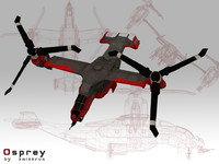 3ds max futuristic osprey helicopter