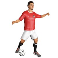 soccer player games 3d model