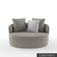 3d casamilano francesca armchair