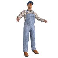 farmer man 3d max