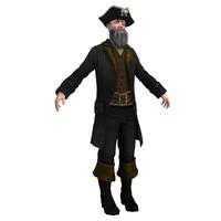 3ds max pirate captain