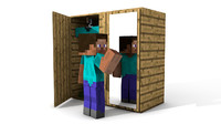 minecraft cupboard 3d c4d