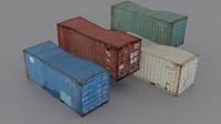 container polligonalnye 3d model