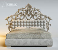 3d model carved bed