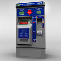 bus ticket machine 3d model