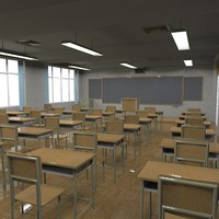 school classroom fbx