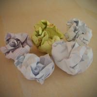 crumpled balls paper 3d max