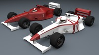 formula 1 car types 3d model