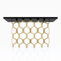 3d model porta romana honeycomb console table