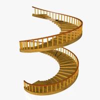 3d c4d spiral stair