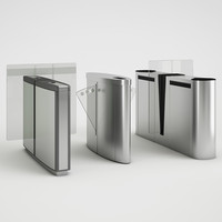 selection turnstiles lobby 3d model
