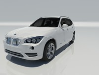 3d model of bmw x1 2013 car vehicle