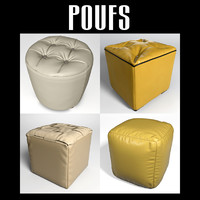 3d model of pouf interior