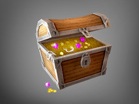 3d treasure chest model