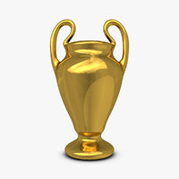 3d model trophy cup 3