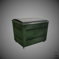 3d obj waste container
