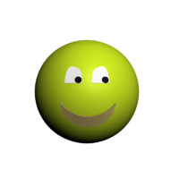 3d model smiley character