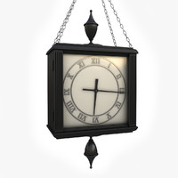 3ds double sided hanged clock