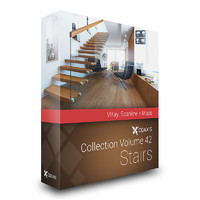 CGAxis Models Volume 42 Stairs VRay