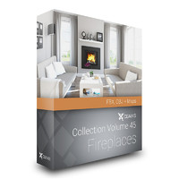 3d model volume 45 fireplaces