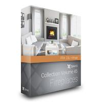 CGAxis Models Volume 45 Fireplaces FBX OBJ