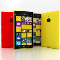 3d model nokia lumia 1520 red