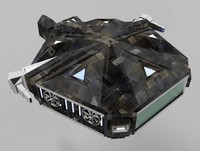 3d fighter transporter ship model
