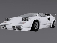 3d lamborghini countach model