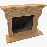 fireplace 13 3d model