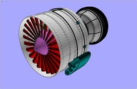 bypass ratio turbo fan 3d 3ds