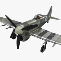 3d model hawker typhoon british wwii