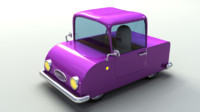 3d car rigged model