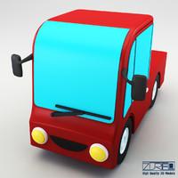 3d truck v 2 model