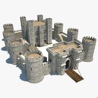 3d model medieval castle