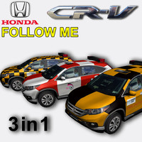 honda cr-v follow 3 3d obj