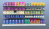 c4d supermarket cat food shelving