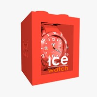 3d model red ice watch