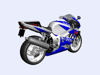 3d model motorcycle suzuki