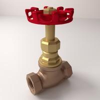 globe valve 3d model
