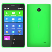 3ds max nokia x - green