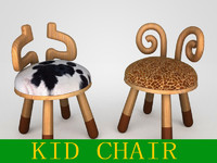 3d model chairs kid
