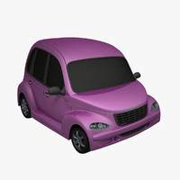 obj cartoon car
