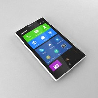 nokia xl white 3d model