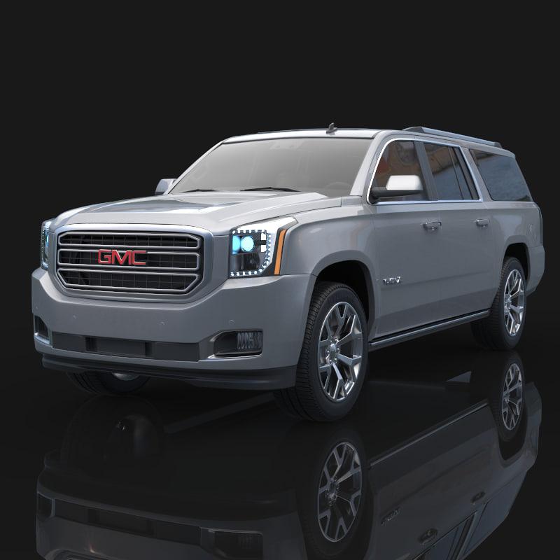 2019 Gmc Yukon: 3d Model 2015 Gmc Yukon