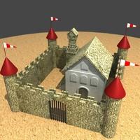 3d castle games model