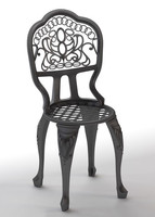 bistro table chair set 3ds