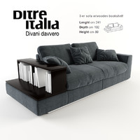 3d ditre italia sofa bijoux model