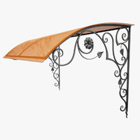 wrought iron awning max