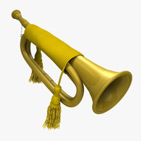 civil war bugle obj